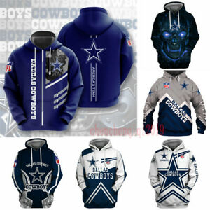 Dallas Cowboys Hoodie Hooded Pullover Sweatshirt Casual Jacket Coat Fan's Gift