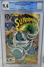 Superman The Man of Steel #18 1st App Doomsday Rare D C logo. CGC NM+ 9.4  WP
