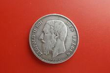 *Belgien 5 Francs 1873 Silber * Leopold II.(Schub 2)