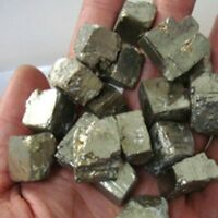 100g Iron Pyrite Rough Chunky Nuggets 20mm-40mm Mineral Crystal Rock Stone UK