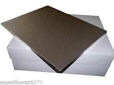 "16 x12 ""oblong rectangle wedding cake board drum and box FAST DESPATCH"