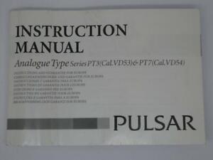 Original Pulsar Analogue Type Series PT3 & PT7 Watch Instruction Manual