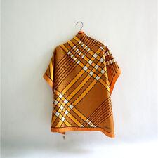Prophet 100% silk scarf 80cm men women fine soie square shawl yellow P702490