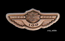 HARLEY DAVIDSON 100TH ANNIVERSARY WING TANK LOGO PIN **OBSOLETE ITEM ** 2003