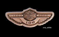 HARLEY DAVIDSON 100TH ANNIVERSARY WING TANK LOGO PIN **OBSOLETE ITEM ** 2003
