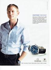Publicité Advertising 018  2011  montre Omega vision blue D. Craig James Bond