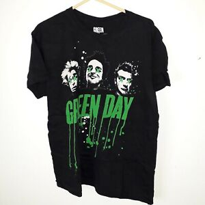 Mens large Bravado Green Day dripping letter 2016 T shirt black used