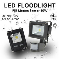 10W LED Flood Light 12V 220V 110V PIR Motion Sensor Integrated COB Outdoor Lamp