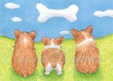ACEO art print Dog 64 Corgi from original painting L.Dumas