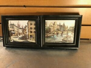 Pair of Vintage Small Framed French Prints