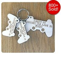 Personalised Fathers Day Gifts For Daddy Dad Grandad Controller Keyring Gifts