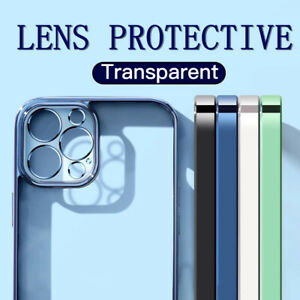 Case For iPhone 12 11 Pro Max Mini SE Square Frame Plating Shockproof TPU Cover