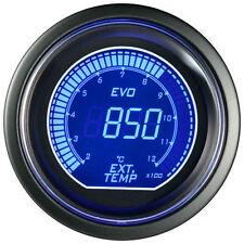 52mm Autogauge Digital EVO EGT Gauge RED/BLUE LED Exhaust Gas Temperature Gauge