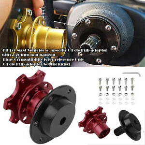 Aluminum Red Steering Wheel Detachable Quick Release Adapter Hub For Chevy