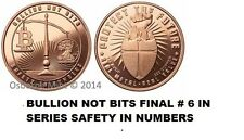 20-1 OZ COPPER COINS *BULLION NOT BITS* BITCOIN SAFETY IN NUMBERS 1-5-100