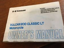 Owner's Manual Kawasaki Vulcan 900 Classic LT Cycle Part No. 99987-1432 Rare!