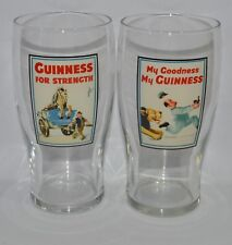 """GUINNESS BIERE 2 Verres 50 cl pinte """"FOR STRENGTH"""" et """"MY GOODNESS"""" NEUF"""