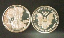 (10)One gram Silver Round Walking Liberty .999 ASE American Liberty Eagle LOT