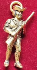 VINTAGE SOLDIER CHARM GOLD PLATED NECKLACE OR BRACELET CHARM FOB