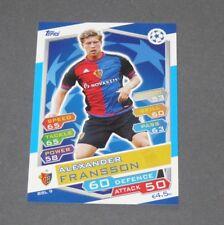 9 FRANSSON SVERIGE BASEL 1893 FOOTBALL CHAMPIONS LEAGUE 2016-2017 TOPPS PANINI