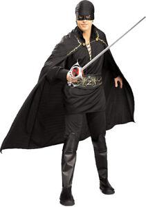 """Zorro Mens Costume Style 1, XL, CHEST 44 - 46"""", WAIST 36 - 40"""", INSEAM 33"""""""