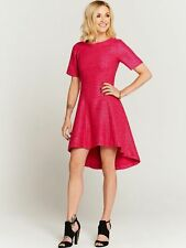Fearne Cotton Textured Pink Metallic Thread Eclipse Hem Dress Size 12 14 12