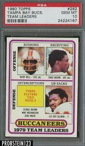 1980 Topps Football #282 Tampa Bay Buccaneers Team Leaders PSA 10 GEM MINT