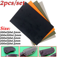 2X Kydex Sheet 1.5mm Thermoplastic Forming Plastic For DIY Knife Sheath Holster