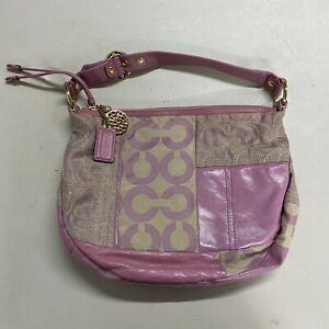 COACH Patchwork ALI Lilac Rose Hobo Bag Purse Pink/Purple Rare