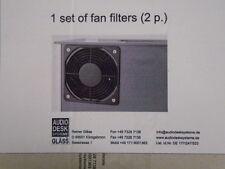 1 Pair Set of Fan Filters Audio Desk Vinyl Cleaner FOR Record Vacuum CLEANER