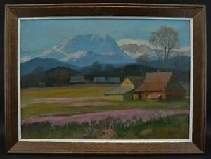 Polish Oil Painting By Michal Stanko Tatra Mountains Landscape In Poland