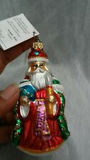 Nice vintage Christopher Radko red santa claus Christmas ornament 4 inches