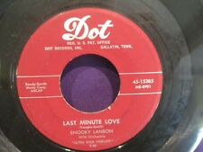 "SNOOKY LANSON ""Why Don't You Write me"" 1955  DOOWOP 45 on maroon Dot"