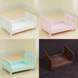 Newborn Baby Photography Basket Crib Wood Bed Infant Studio Props Posing