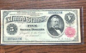 1891 $5 Banknote