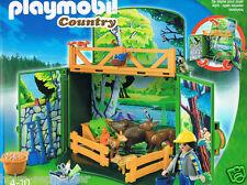 Playmobil 6158 Aufklapp-Spiel-Box Waldtierfütterung Lichtung See Country Neu OvP