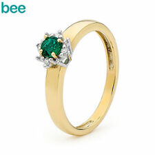 Emerald Cluster Fine Diamond Rings