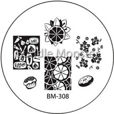 Stamping plaque Bundle Monster BM308 pour vernis ongles