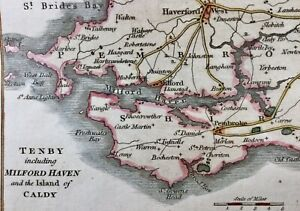 Caldey 1803 Pembroke Marloes Angle Pays de Galles Tenby Milford Haven Walton