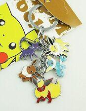 Pokemon Pocket Monster Metal Charm Keychain (Jolteon, Eevee, Espeon, Flareon etc