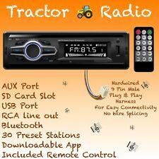 Kubota Tractor Rtv 1100 Radio Am Fm Bluetooth Mp3 Aux Usb With Harness