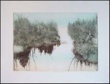 Antonin Dimitrov Summer River,Morning Original Fine Art Etching Hand Signed OBO