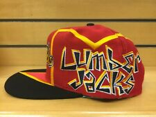 New NWT Vintage Muskegon Lumberjacks IHL Hockey Graffiti TOW Snapback Cap Hat