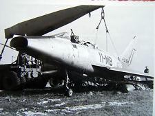 PHOTOGRAPHIE ORIGINALE CRASH ACCIDENT AVION F100D SUPER SABRE DU 2/11 ANNEES 60