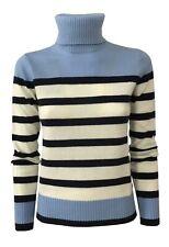 PENNYBLACK Long Polo Neck Striped White/ Blue/ Baby Blue Mod. Toy