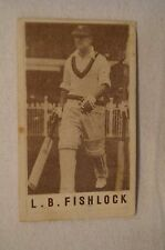1940's Vintage G.J.Coles Cricket Card - L.B. Fishlock - Surrey.