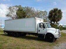 2005 International 4400 24' Box Truck 6x2 Air Lift Axle Lift Gate Fl 1 Owner 7.6