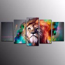 FRAMED Animal Canvas Art Prints Lion Wall Art Canvas Painting Print Decor-5pcs