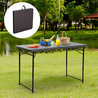 4ft Portable Camping Table Garden Backyards BBQ Picnic Party Table Adjustable