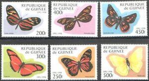 Mint stamps  Fauna Butterflies 1998 from Guinea  avdpz